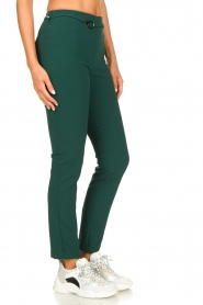 Patrizia Pepe |  Trousers with ceinture Bodine | green  | Picture 4