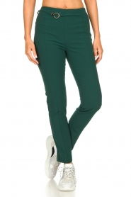 Patrizia Pepe |  Trousers with ceinture Bodine | green  | Picture 2
