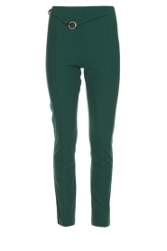 Patrizia Pepe |  Trousers with ceinture Bodine | green  | Picture 1