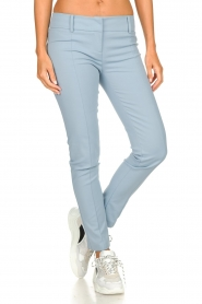 Patrizia Pepe |  Classic stretch trousers Kiana | blue  | Picture 2