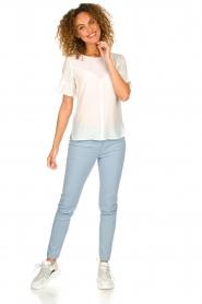 Patrizia Pepe |  Classic stretch trousers Kiana | blue  | Picture 3