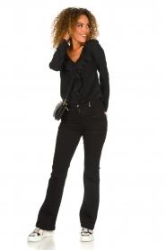 Patrizia Pepe |  Blouse with ruffles Vivian | black  | Picture 3