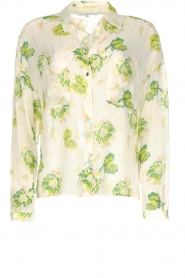 Patrizia Pepe |  Floral blouse Alaia | white  | Picture 1