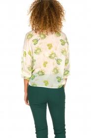 Patrizia Pepe |  Floral blouse Alaia | white  | Picture 5