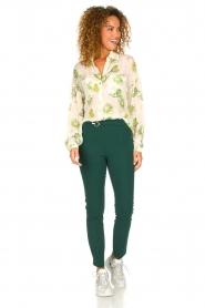 Patrizia Pepe |  Floral blouse Alaia | white  | Picture 3