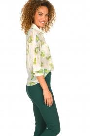 Patrizia Pepe |  Floral blouse Alaia | white  | Picture 4