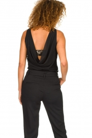 Patrizia Pepe |  Body top with sequins Rosanna | black  | Picture 5