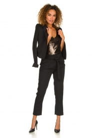 Patrizia Pepe |  Body top with sequins Rosanna | black  | Picture 3