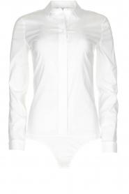 Patrizia Pepe |  Classic body blouse Tori | white  | Picture 1