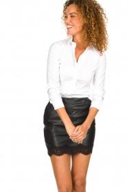 Patrizia Pepe |  Classic body blouse Tori | white  | Picture 2
