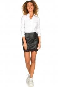 Patrizia Pepe |  Classic body blouse Tori | white  | Picture 3