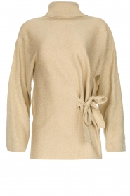 Patrizia Pepe |  Turtleneck swaeter with lurex Puck | gold  | Picture 1