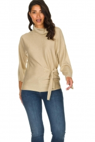 Patrizia Pepe |  Turtleneck swaeter with lurex Puck | gold  | Picture 4