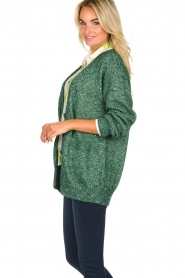 Patrizia Pepe |  Cardigan with lurex and sequins Nua | green  | Picture 4