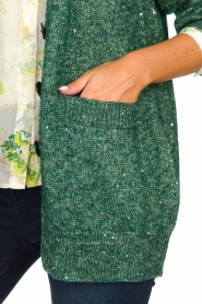 Patrizia Pepe |  Cardigan with lurex and sequins Nua | green  | Picture 6