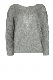 Patrizia Pepe |  Sweater with lurex and sequins Noelle | grey  | Picture 1
