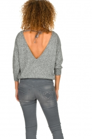 Patrizia Pepe |  Sweater with lurex and sequins Noelle | grey  | Picture 6