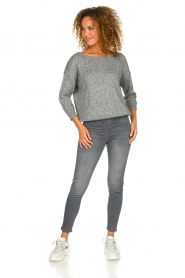Patrizia Pepe |  Sweater with lurex and sequins Noelle | grey  | Picture 3