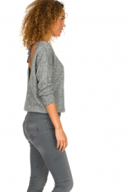 Patrizia Pepe |  Sweater with lurex and sequins Noelle | grey  | Picture 5