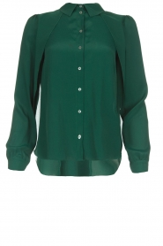 Patrizia Pepe |  Silk blouse Rosa | green  | Picture 1