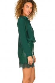 Patrizia Pepe |  Silk blouse Rosa | green  | Picture 4