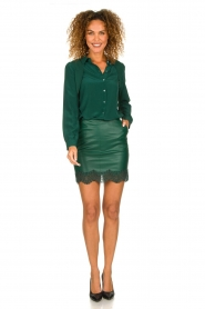 Patrizia Pepe |  Silk blouse Rosa | green  | Picture 3