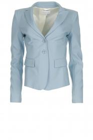 Patrizia Pepe |  Classic stretch blazer Nicole | blue  | Picture 1
