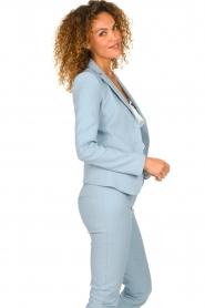 Patrizia Pepe |  Classic stretch blazer Nicole | blue  | Picture 4