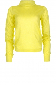 Patrizia Pepe |  Lurex turtleneck sweater Lindy | yellow  | Picture 1