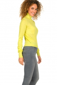 Patrizia Pepe |  Lurex turtleneck sweater Lindy | yellow  | Picture 4
