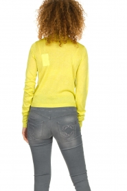 Patrizia Pepe |  Lurex turtleneck sweater Lindy | yellow  | Picture 5