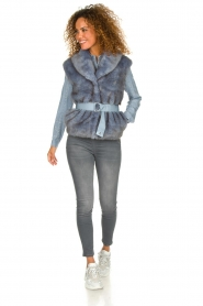 Patrizia Pepe    Faux fur waistcoat Nikki   blue    Picture 3