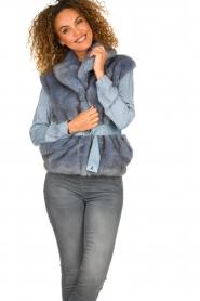 Patrizia Pepe    Faux fur waistcoat Nikki   blue    Picture 2