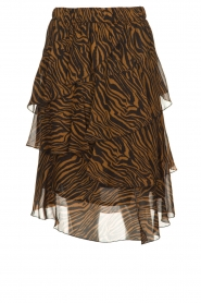 Set |  Zebra print midi skirt Marthy | animal print  | Picture 1