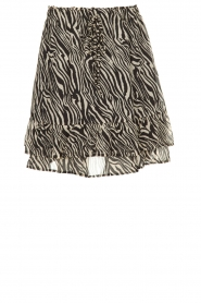 Set |  Zebra print skirt  Yara |  black & white  | Picture 1
