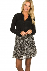 Set |  Zebra print skirt  Yara |  black & white  | Picture 2