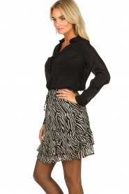 Set |  Zebra print skirt  Yara |  black & white  | Picture 4