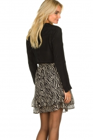 Set |  Zebra print skirt  Yara |  black & white  | Picture 5