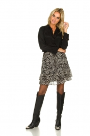 Set |  Zebra print skirt  Yara |  black & white  | Picture 6