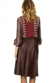 Set |  Leather midi skirt Yvette | brown  | Picture 6
