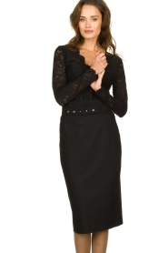Set | Skirt with belt Alessia | black  | Picture 2