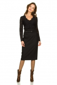 Set | Skirt with belt Alessia | black  | Picture 3