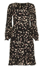 Set |  Dress with floral print Hip | black   | Picture 1
