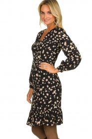 Set |  Dress with floral print Hip | black   | Picture 4