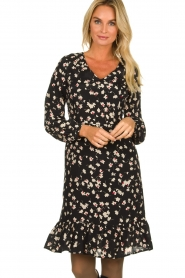 Set |  Dress with floral print Hip | black   | Picture 2