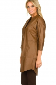 Set |  Leather tunic dress Marcia | brown  | Picture 6