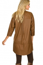 Set |  Leather tunic dress Marcia | brown  | Picture 7