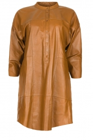 Set |  Leather tunic dress Marcia | brown  | Picture 1