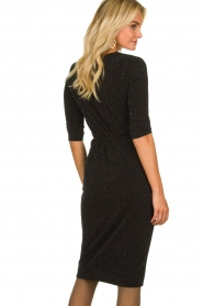 Set |  Shimmering lurex dress Sas | black  | Picture 5