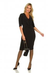 Set |  Shimmering lurex dress Sas | black  | Picture 3